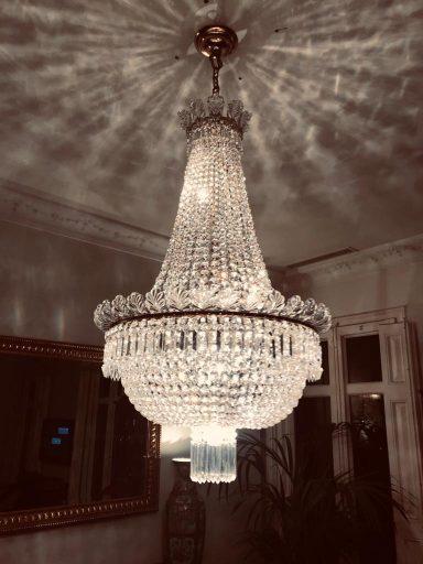 Lámpara imperio restaurada por la restauradora de lámparas