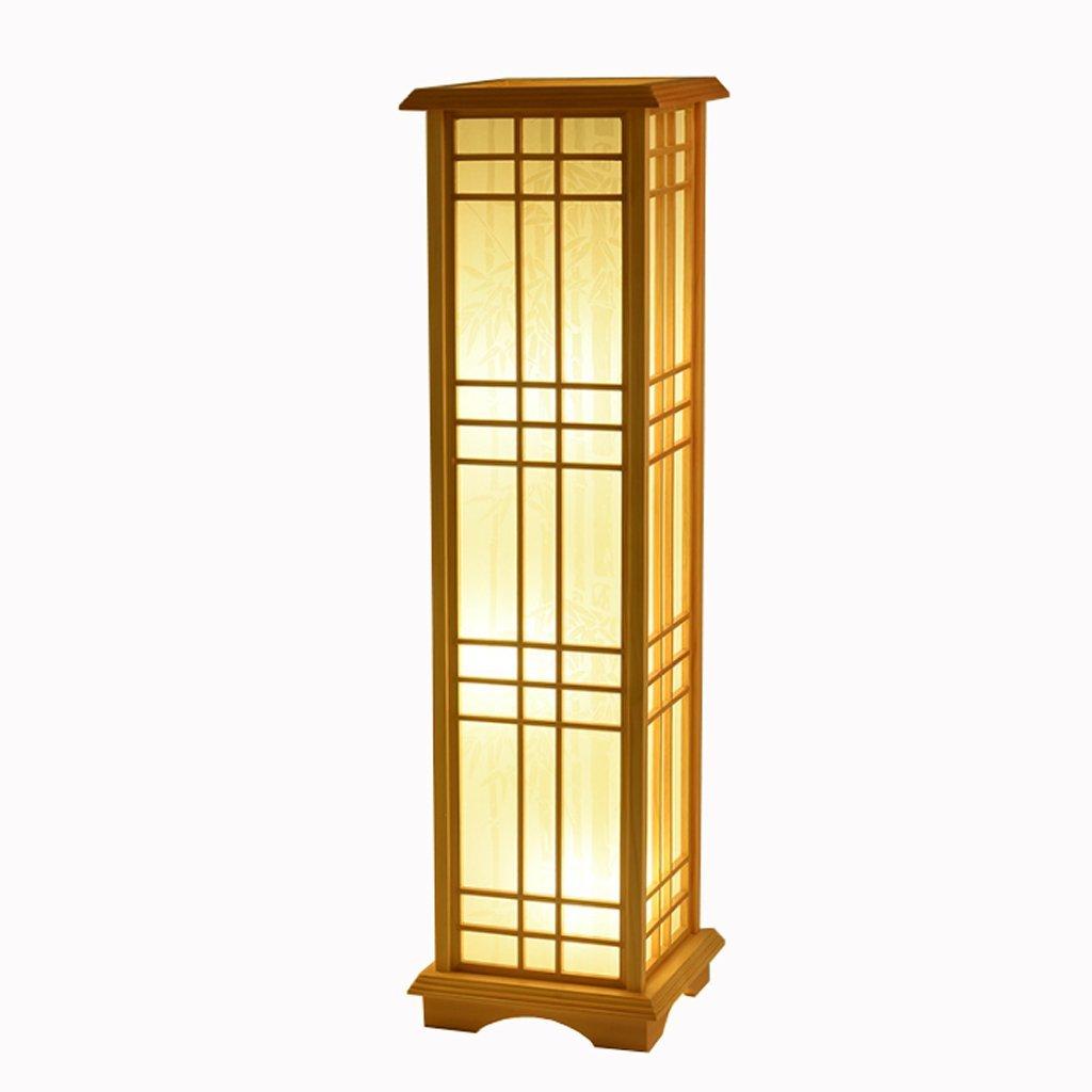 Lamapara de pie con pantalla estilo japonés, utilizado mas para la decoración que la iluminación