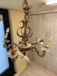 Lampara de bronce sin restaurar
