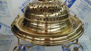 Brasero de latón restaurado por La restauradora de lámparas