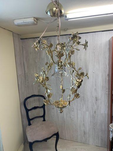 Restauración lámpara de bronce