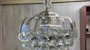 Lámpara de cristal o plafón restaurado por La restauradora