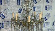 Lámpara de cristal versalles, restaurada en La restauradora de lámparas